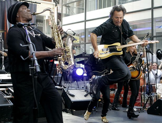 Bruce Springsteen & The E Street Band en concierto en el Rockefeller Plaza